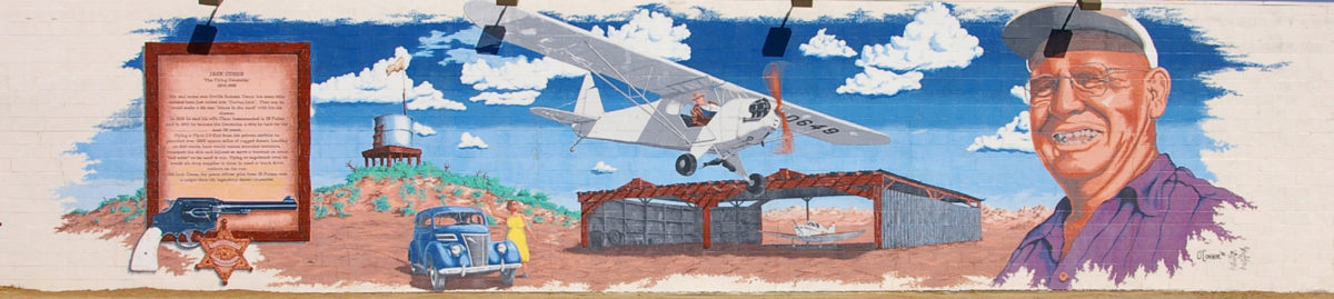 The Flying Constable, Jack Cones, mural in 29 Palms, California
