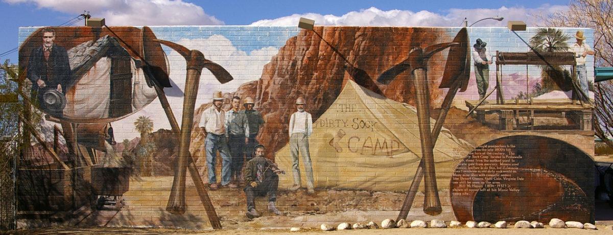 The Dirty Sock Camp mural in 29 Palms, California