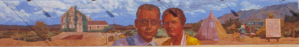 William and Elizabeth Campbell mural in 29 Palms, California