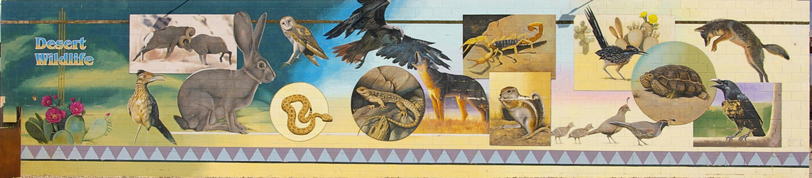 Desert Wildlife mural, 29 Palms, California