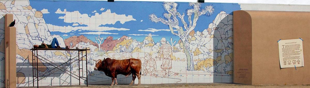 Valentine's Day mural by John Pugh, 29 Palms, California