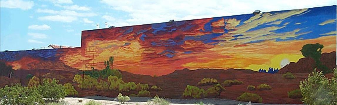 The Sun Rises mural, 29 Palms, California