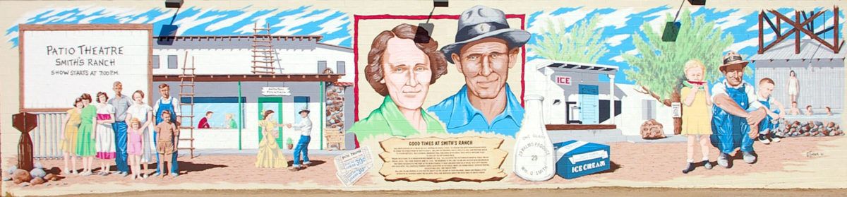 Smith's Ranch mural, 29 Palms, California