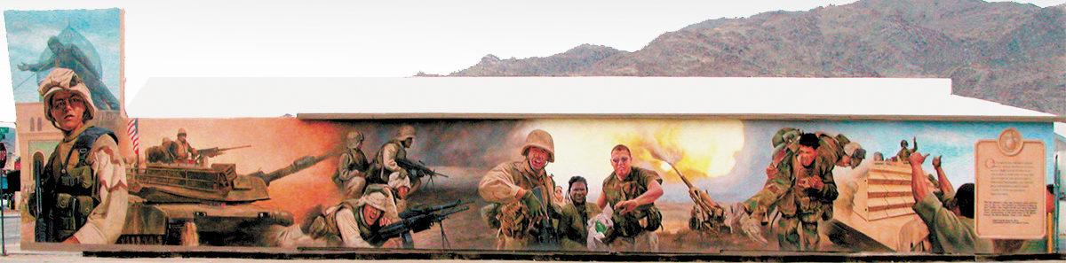 Operation Iraqi Freedom mural, 29 Palms, California
