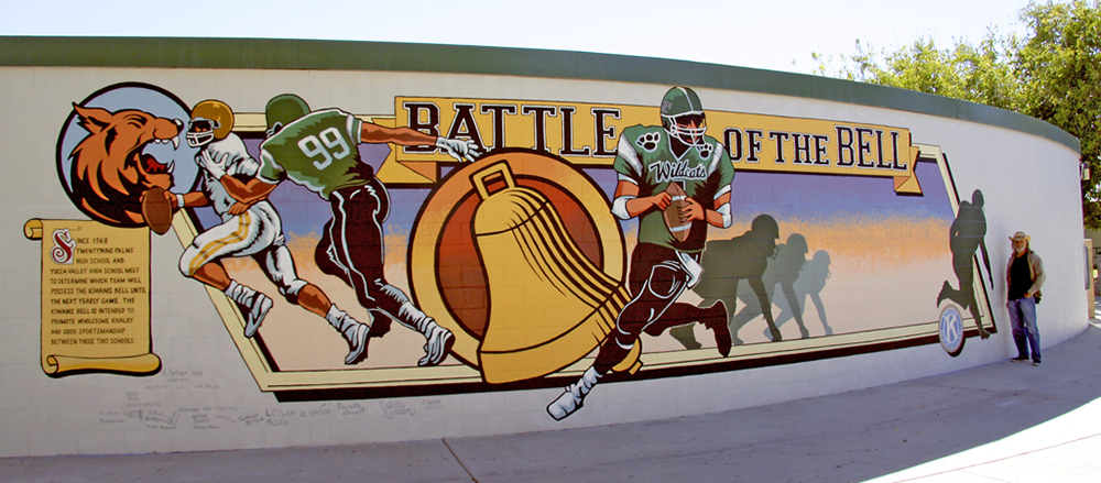 Battle of the Bell mural, 29 Palms, California