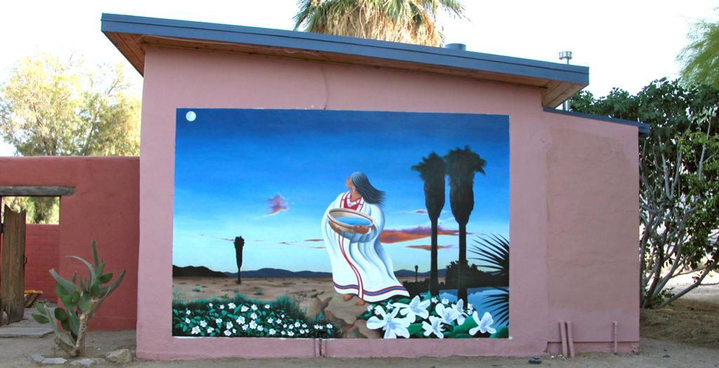 Spirit of Mara mural, 29 Palms, California
