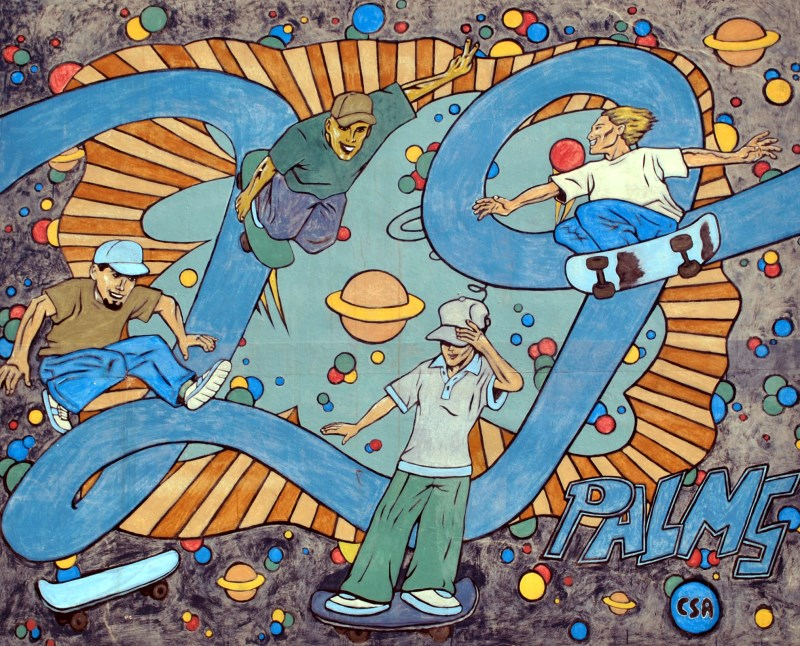 Skateboard Park mural, 29 Palms, California