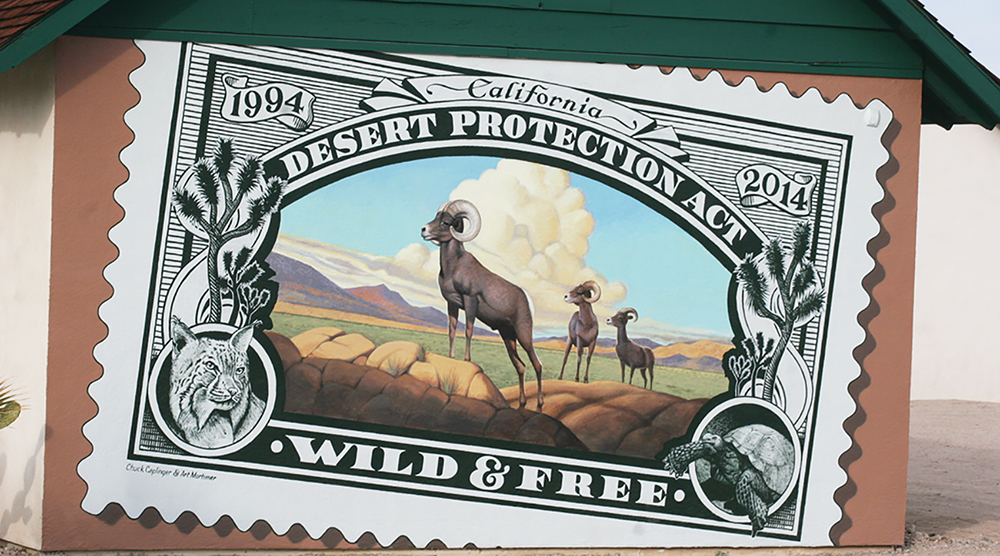 California Desert Protection Act 20th Anniversary mural, 29 Palms, California