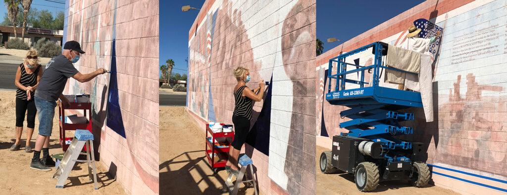 Mural 5 Desert Storm repainting 20201019